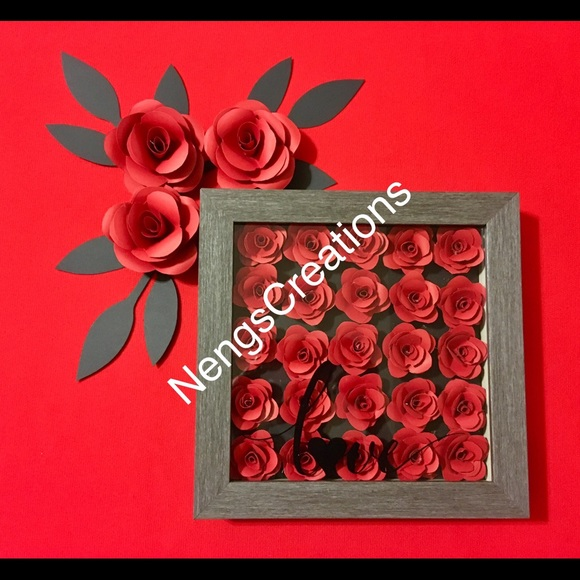 Paper Flower Shadow Box with Sizing & Quantity Charts - Jennifer Maker | 580x580
